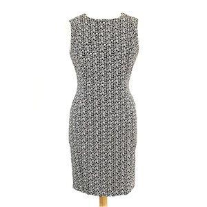 Calvin Klein Sleeveless Geometric Print Dress